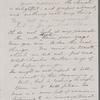 Peabody, Elizabeth [Palmer, sister], ALS to. [Nov?] 28, 1862.