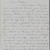 Hitchcock, E. A., ALS to SAPH. Aug. 31, 1863.
