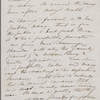 [Mann,] Mary [Tyler Peabody], ALS to SAPH. [Oct. 5? 1842]