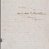 [Mann,] Mary [Tyler Peabody], ALS to SAPH. [late May, 1843]
