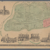 Map of Staten Island o Richmond County. 16 views of buildings on border. Also view of Elliottville the property of Dr. S. M. Elliott