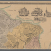 Map of Staten Island o Richmond County. 16 views of buildings on border. Also view of Elliottville the property of Dr. S. M. Elliott.