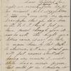 Hawthorne, Una, ALS to [Nathaniel Peabody], grandfather. Sep. 22, [1854].