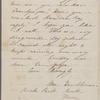 Hawthorne, Una, ALS to [Nathaniel Peabody], grandfather. Oct. 20, 1854.