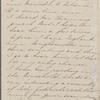 Hawthorne, Una, ALS to Elizabeth [Palmer Peabody], aunt. Apr. 7, 1857.