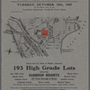 There will be Sold at Public Auction 193 High Grade Lots situated Garrison Heights 23d Ward, Borough of Bronx
