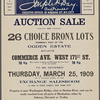 Auction Sale of 26 Choice Bronx Lots formerly part of the Ogden Estate situate Commerce Ave-West 171st St.