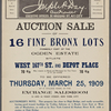 Auction Sale of 16 Fine Bronx Lots formerly part of the Ogden Estate situate West 167th St and Depot Place