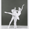 """Dancers Sandra Fortune and Sylvester Campbell performing the """"White Swan"""" pas de deux, staged by the Capitol Ballet Company, in Washington, D.C., circa 1970s."""