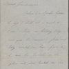 Peabody, [Elizabeth Palmer], mother, ALS to. In second part of ALS from from Una Hawthorne to EPP, her grandmother. [Dec. 1851 - May 1852].