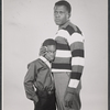 Studio portrait of Glynn Thurman and Sidney Poitier in the stage production A Raisin in the Sun