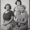 Studio portrait of Claudia McNeil, Ruby Dee, and Diana Sands in the stage production A Raisin in the Sun