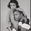 Studio portrait of Ruby Dee and Sidney Poitier in the stage production A Raisin in the Sun
