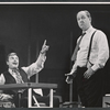 John McMartin and Eddie Mayehoff in the stage production A Rainy Day in Newark