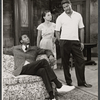Louis Gossett, Ruby Dee, and Ossie Davis in the stage proudction A Raisin in the Sun