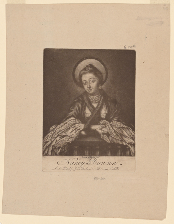 Fascinating Historical Picture of Nancy Dawson in 1760