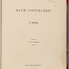 David Copperfield. A reading. In five chapters