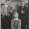 Michael Rennie, Barbara Bel Geddes and director Joseph Anthony in rehearsal for the stage production Mary, Mary