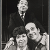 Tom Bosley [standing], Dorothy Loudon and Herb Edelman from the touring company of the stage production Luv