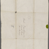 Hawthorne, Nathaniel, Cover wrapper of letter to NH. [n.d.] addressed to Brook Farm, West Roxbury.