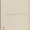 [Peabody], E[lizabeth Palmer, sister], ALS  to SAPH. [n.d.]