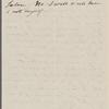 [Peabody, Elizabeth Palmer, sister], AL to SAPH. [n.d.]