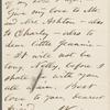 [O'Connor], Ellen, ALS to. Oct. 19, 1868.
