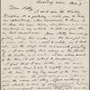 [O'Connor], Ellen, ALS to. Feb. 3, [1874].