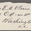 [O'Connor], Ellen, ALS to. Feb. 11, [1874].