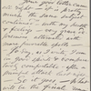 [O'Connor], Ellen, ALS to. Aug. 5, [1874].