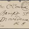 [O'Connor], [Ellen], ALS to. Nov. 12, 1891.