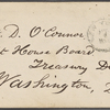 O'Connor, William D., ALS to. Aug. 2, [1870]. Previously: Aug. 2, [1864?]