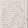 O'Connor, William D., ALS to. Aug. 23, 1869.