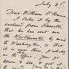 O'Connor, William D., ALS to. Jul. 26, [1871].