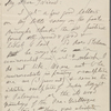 [O'Connor], [William D.], ALS to. Jan. 4, 1886; written on 4th page of ALS from W. S. Kennedy to WW [n.d.].