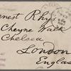 Rhys, Ernest, ALS to. Feb. 2, 1887.