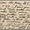 Rhys, Ernest, APCS to. Sep. 8, 1887.