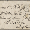 Rhys, Ernest, ALS to. Sep. 11, 1887.
