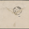 Rhys, Ernest, envelope addressed to. [Jan.] [18?], [1888].