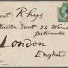 Rhys, Ernest, ALS to. Jan. 22, 1890.