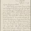 Riley, W. H. Copy in an unknown hand of a letter to Walt Whitman. Mar. 5, 1879.