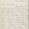 [Whitman], [Thomas] Jeff[erson], brother, ALS to. May 7, 1866.