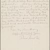 Bucke, Richard Maurice, ALS to Harry Buxton Forman. Nov. 12, 1885.