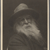 Phototype portrait of Walt Whitman, signed, dated 1887.
