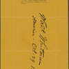 """Lock of hair, initialed, signed and dated """"73d year"""" and """"Oct. 29, 1891."""""""