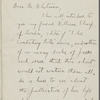 Stedman, Arthur, ALS to WW. Jan. 21, 1892.