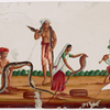 Snake charmers, 3 men and 1 woman