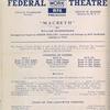 Federal Theatre of the WPA presents Macbeth at the Lafayette Theatre