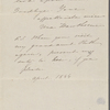 Hawthorne, Maria Louisa, AL, signed and written as if from Una. Apr. 1844.