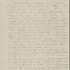 Mann, Mary Peabody, ALS to. Postscript by Nathaniel Hawthorne. Nov. 7, 1843.